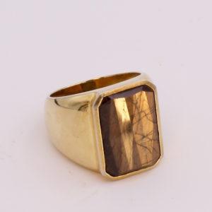 Gold Sheen Sapphire Mens Ring