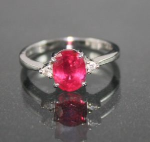 ruby ring 2ct