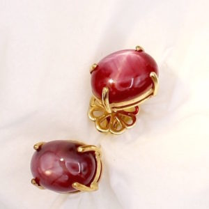 Star Ruby Earrings
