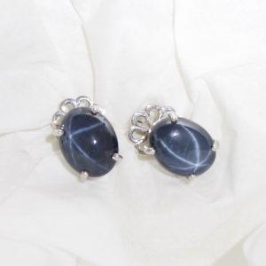 Star Sapphire Earrings