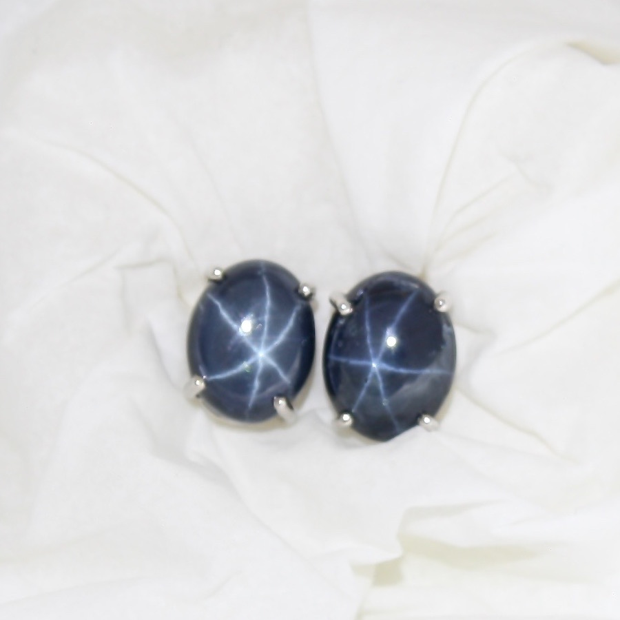 Star Sapphire Earrings