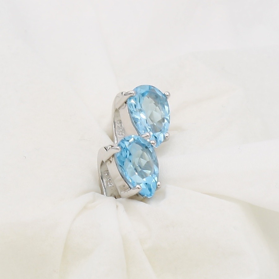 product earrings jewelry halo chevron designs blue topaz