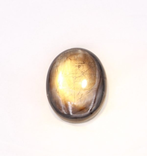 Gold Sheen Sapphire Collectors Piece 45.4 Carat Cabochon with Asterism