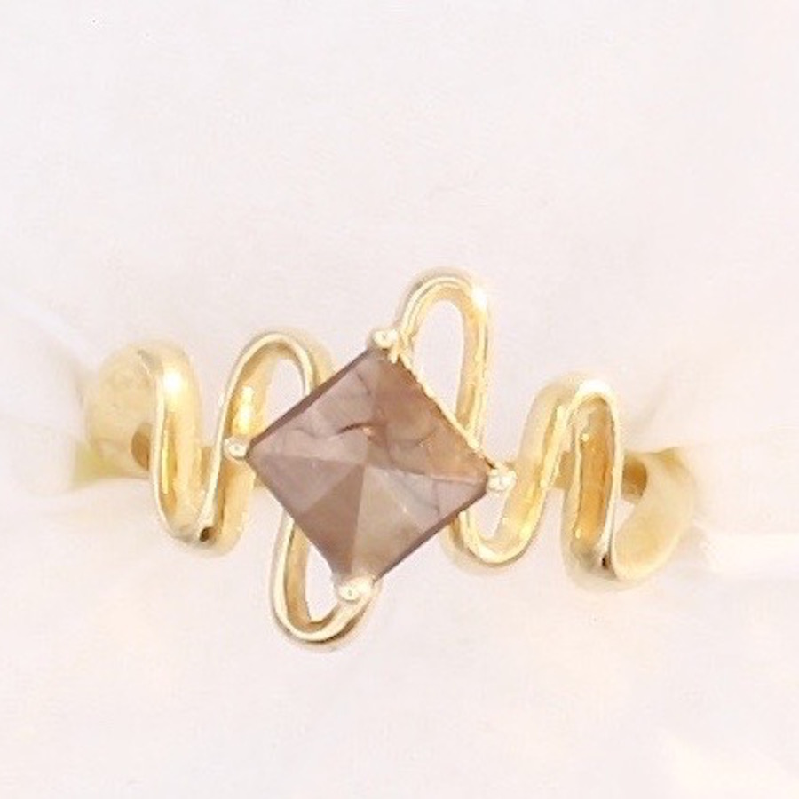 jewelers raw organic birch golden wexford sapphire gold ring