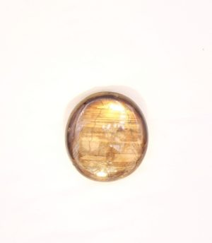 Gold Sheen Sapphire cabochon 25.1 carat with asterism