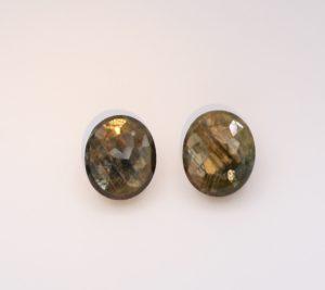 Gold Sheen Sapphire Matched Pair