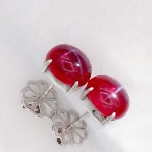Star Ruby Earrings