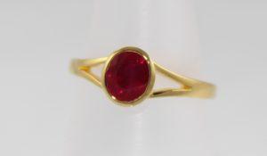Ruby Ring 18k gold