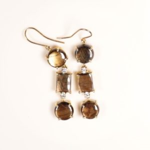 Gold Sheen Sapphire Earrings 50ct