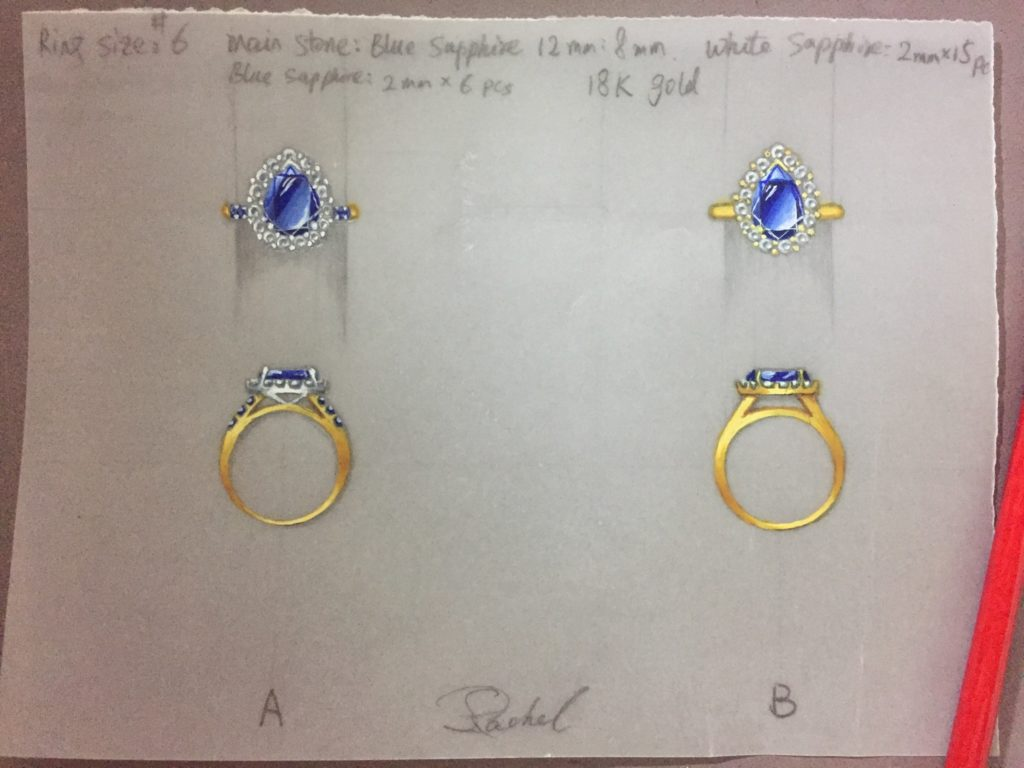 Sapphire ring design options.