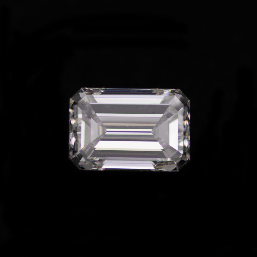 Emerald cut diamond 1.01ct front view