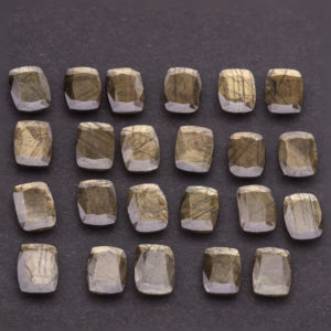 Gold Sheen Sapphire Rec Antique parcel