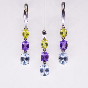 earring and pendant set